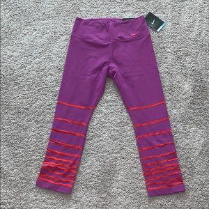 Nike purple Capri leggings.